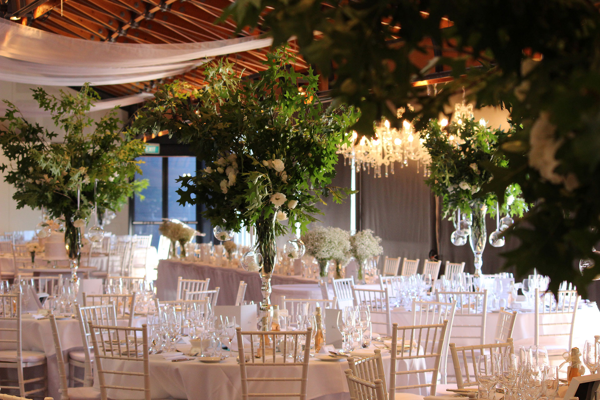 Two brothers events co adelaide tipi furniture lighting hire floral tall green centrepieces adelaide wine centre junglespirit Image collections