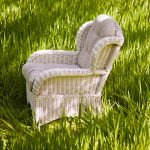 Hamptons wicker chair
