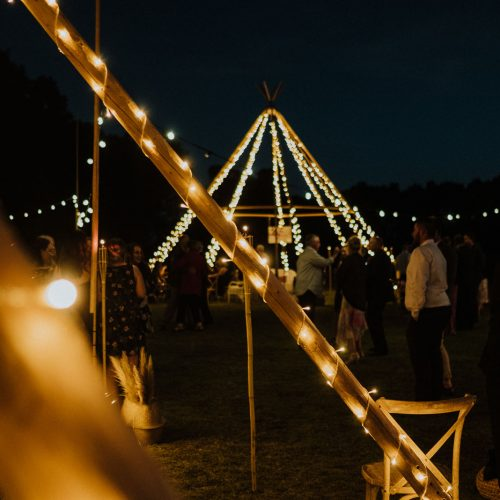Tipi with Lights